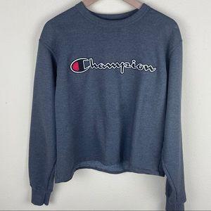 CHAMPION Graphic Powerblend Fleece Crew Sweater M